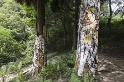 川田知志《六甲高山森林内壁画》