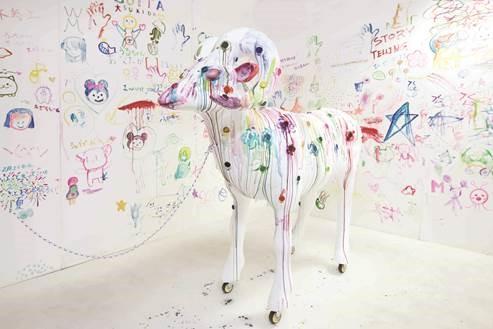 big horn sheep-palette 2018  Takuma Uematsu, Courtesy of Yumiko Chiba Associates