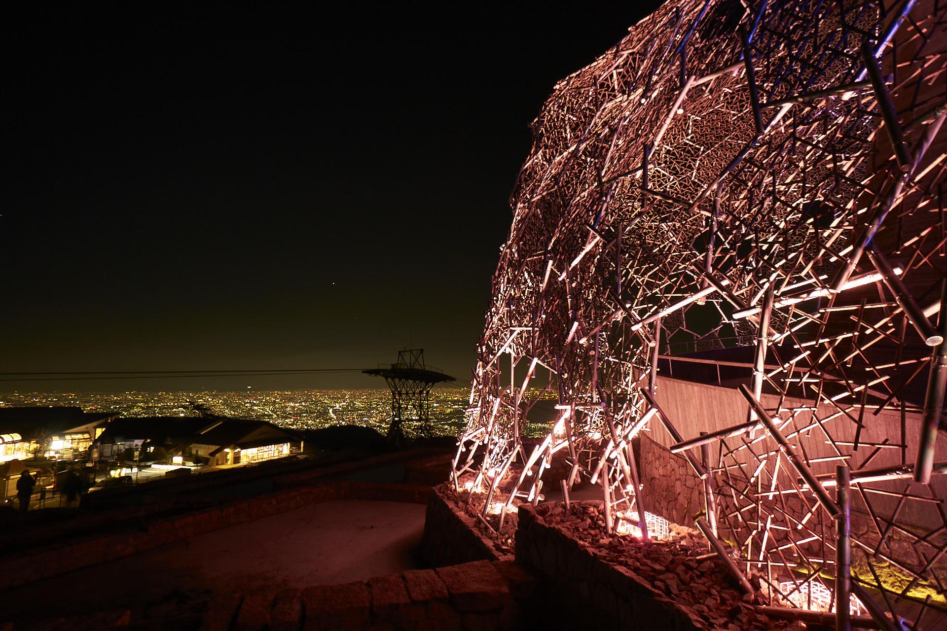 自然体感展望台 六甲枝垂れ からの夜景