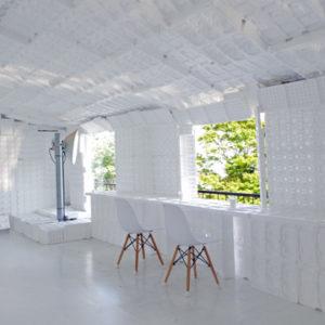 六甲ケーブル 六甲山上駅3階に期間限定で白いカフェ!