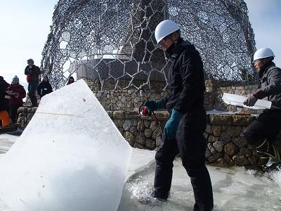 1月20日(日)六甲山の冬の風物詩「氷の切り出し」実施します!!
