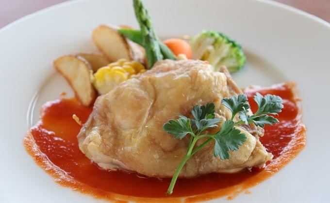 淡路鶏のグリル トマトソース