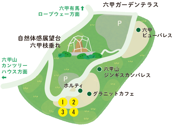Rokkō Garden Terrace Map Illustration