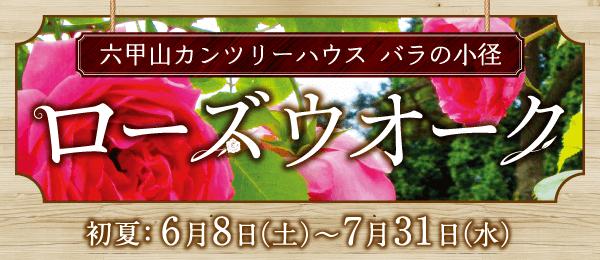 六甲山カンツリーハウス バラの小径「ローズウオーク」