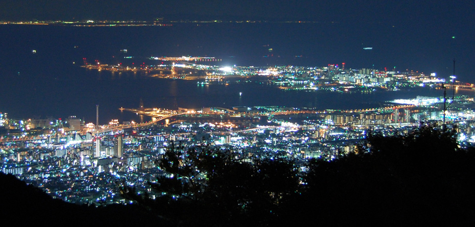 From Port Island to Kobe (Night)
