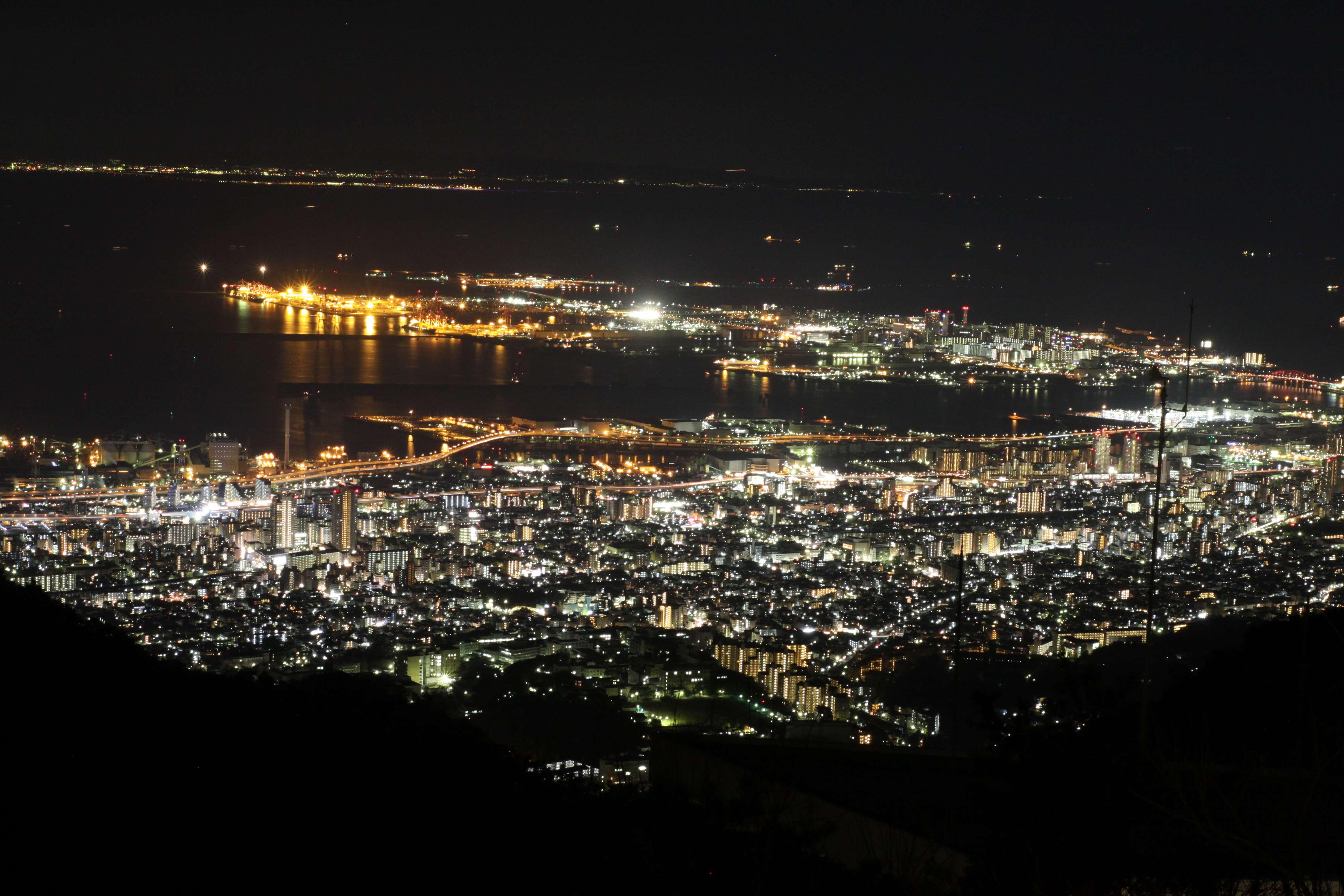 六甲山展覧台からの夜景